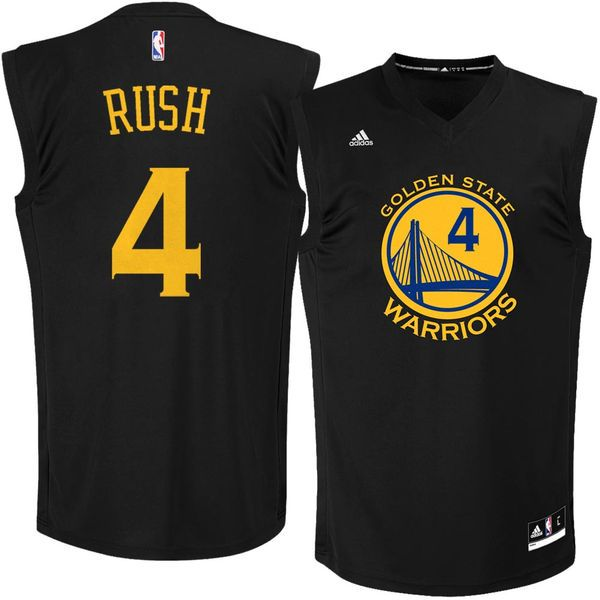 adidas Brandon Rush Golden State Warriors Fashion Replica Jersey - Black - $69.99