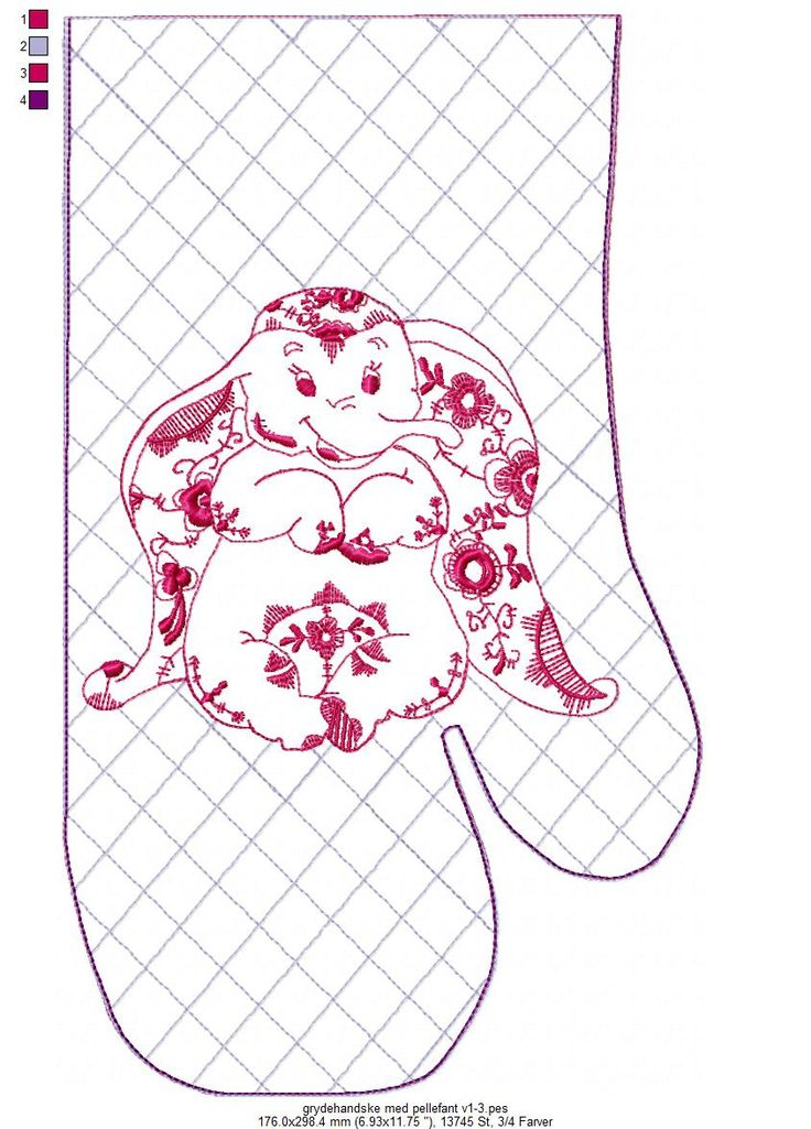 oven mitt with pellefant