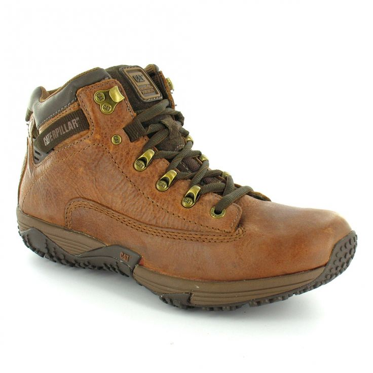 Caterpillar (CAT) Caterpillar (CAT) Corax P711663 Mens Leather Hiker Ankle Boots - Peanut Brown - Caterpillar (CAT) from Scorpio Shoes UK
