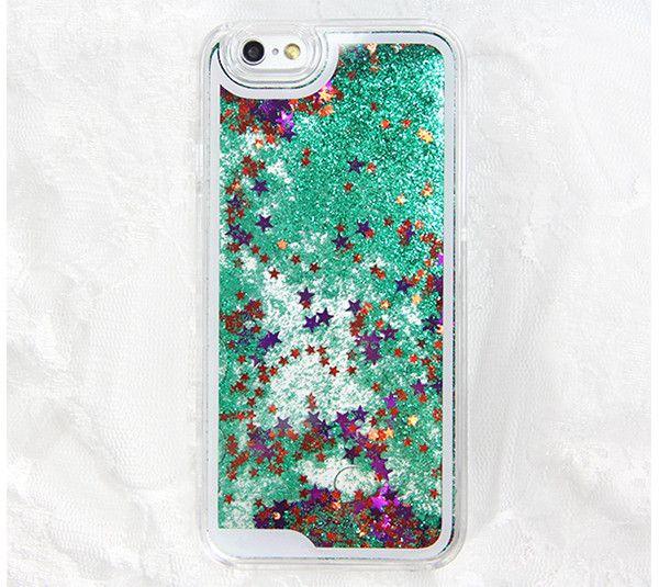 Green Glitter Waterfall iPhone 6 Case iPhone 6 Plus Case iPhone 5S/5 C – Acyc