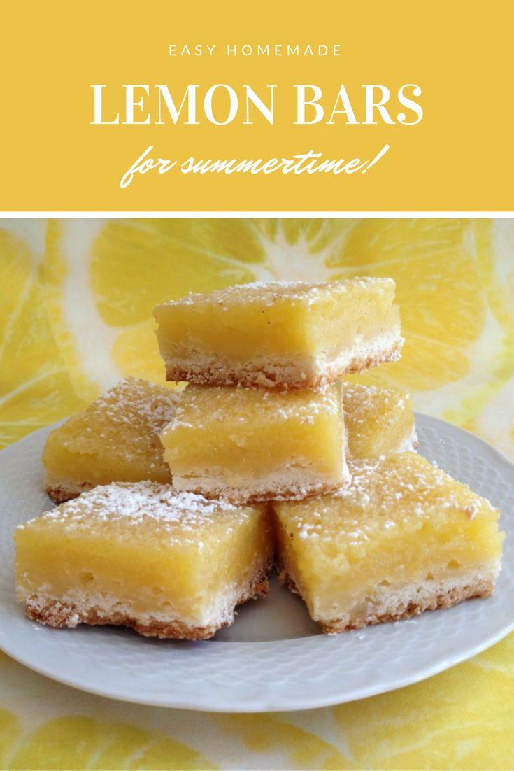 Lemon Bars are wonderful for summertime! Full of zesty lemon flavour.
