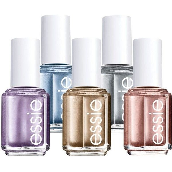 essie Mirror Metallics Nail Polish ($7.20) ❤ liked on Polyvore