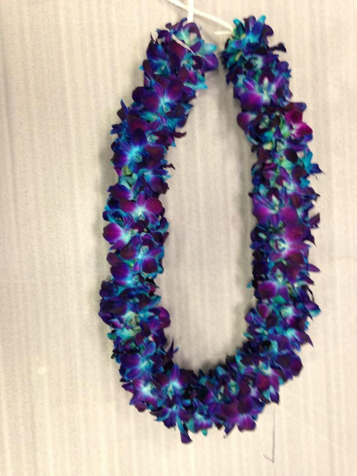 4 ft Blue orchid garland