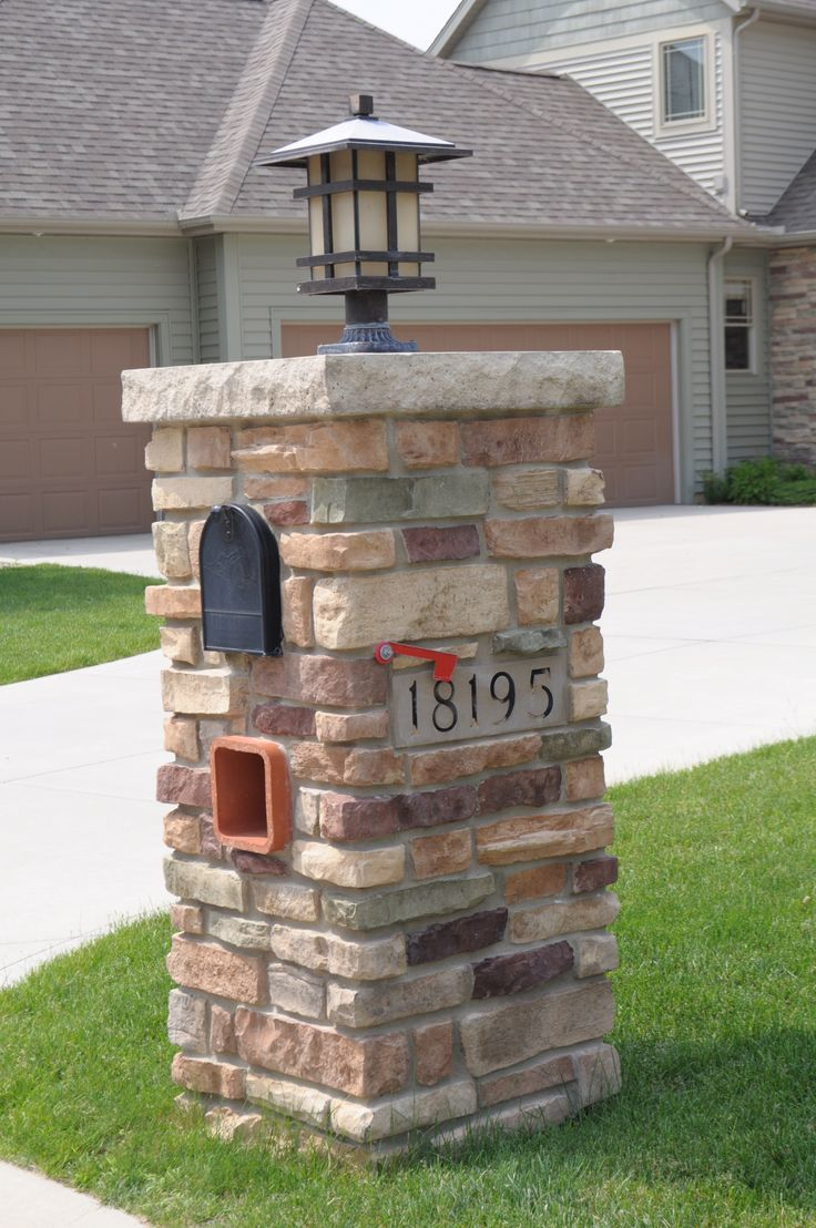 Fully Stoned Mailbox Anagnos Laytite with 5x16 Engraved Address Block JN Stone