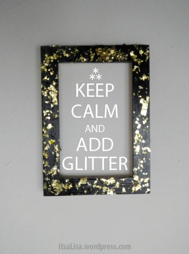 How to make this gold flaked frame craft! Add Glitter #DIY