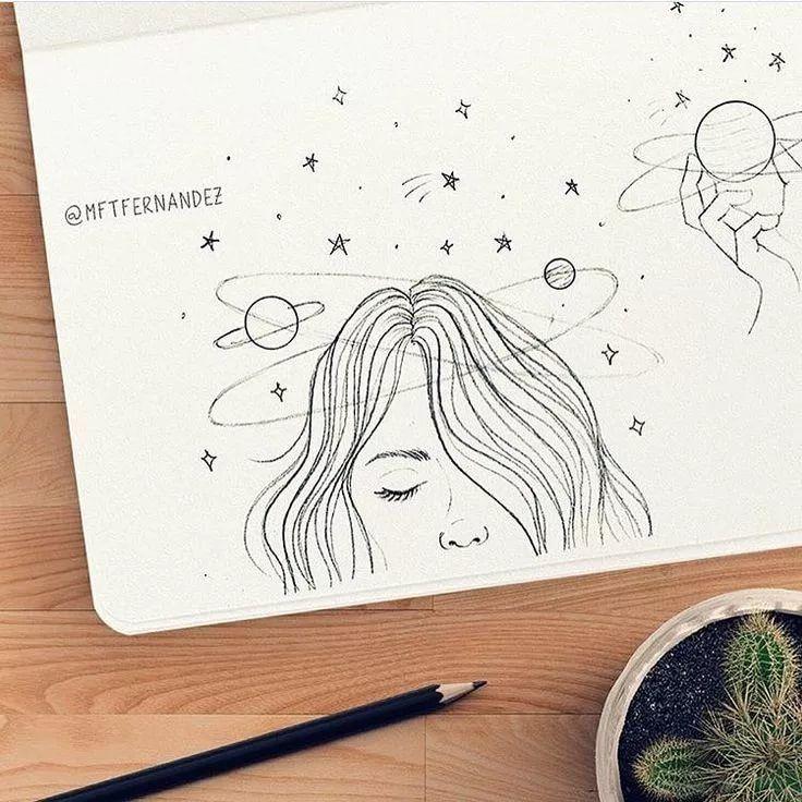 Легкие и красивые картинки для скетчбука