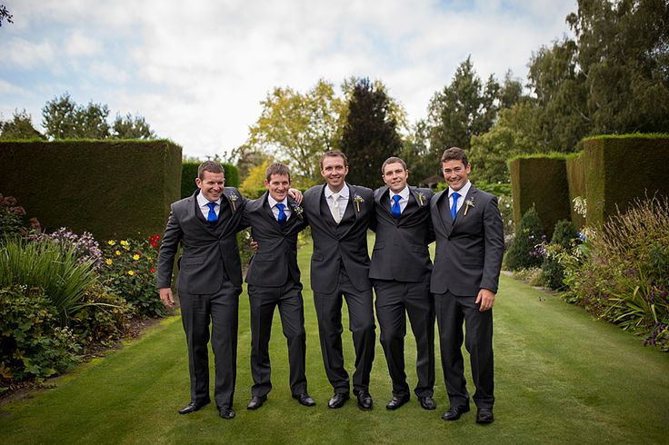 Dark blue ties for a pop of colour.  Tegan Clark Photography