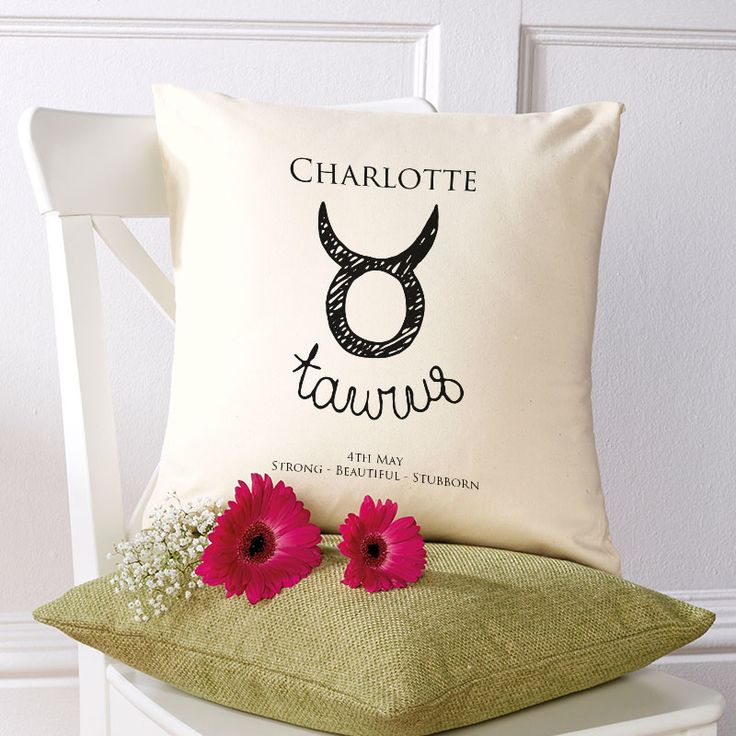 Beautiful💕Personalised Star Sign Horoscope Cushions. Easy to Create & Preview On Screen Before You Buy. A perfect gift for any occasion. Fast Free Delivery.