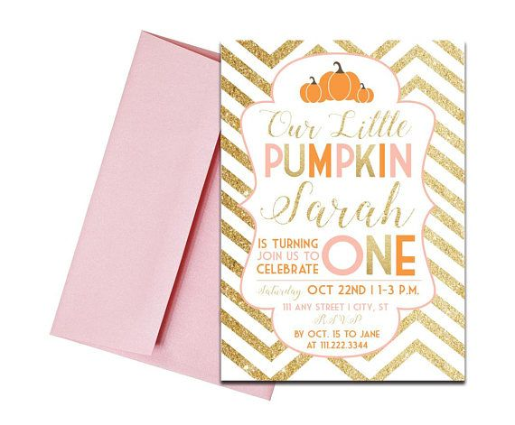 Fall Pumpkin Themed Invitation with Envelopes Pink and Gold. Click through to find matching games, favors, thank you cards, inserts, decor, and more. Or shop our 1000+ designs for all of life's journeys. Weddings, birthdays, new babies, anniversaries, and more. Only at Aesthetic Journeys