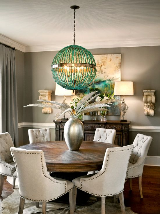 Get the most out of your dining room.  Revamped dining room with pastel walls.