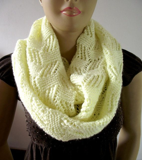 KNITTING PATTERN SCARF Infinity Scarf Cool by LiliaCraftParty