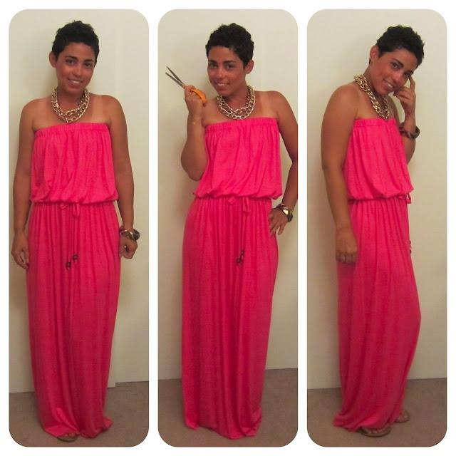Diy drawstring maxi dress