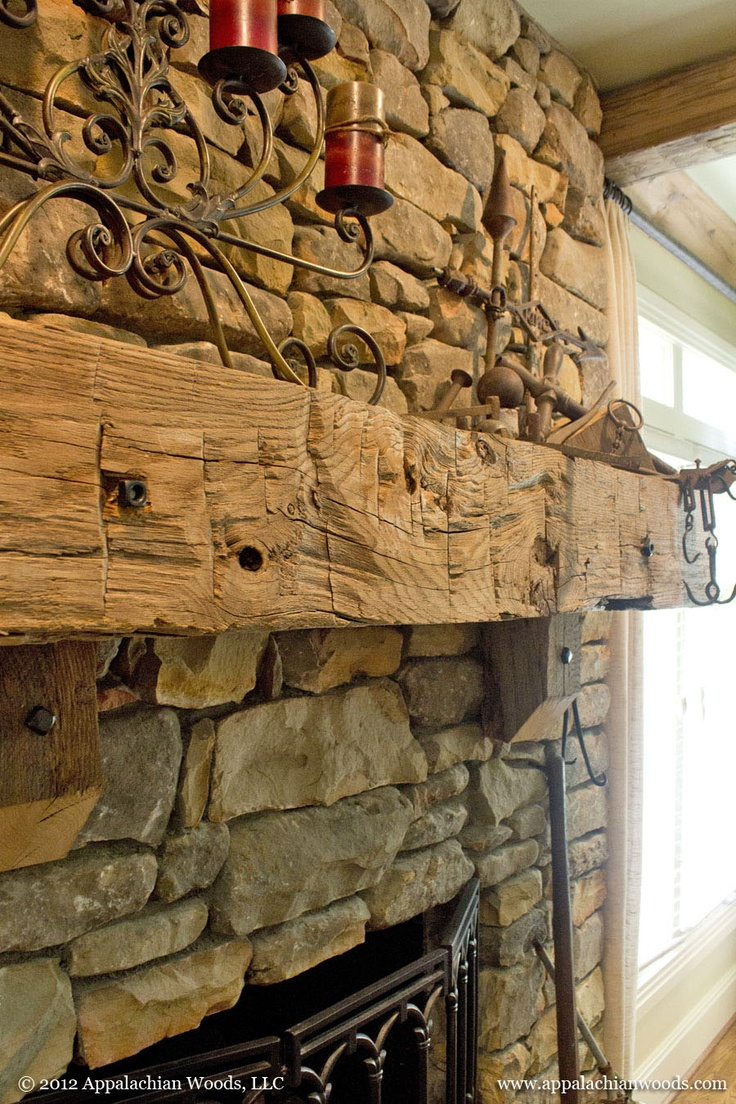 Hand Hewn Mantle