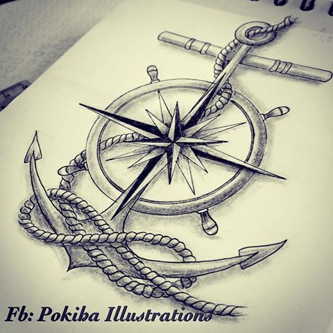 Image result for sailor compass anchor tattoos                                                                                                                                                                                 More
