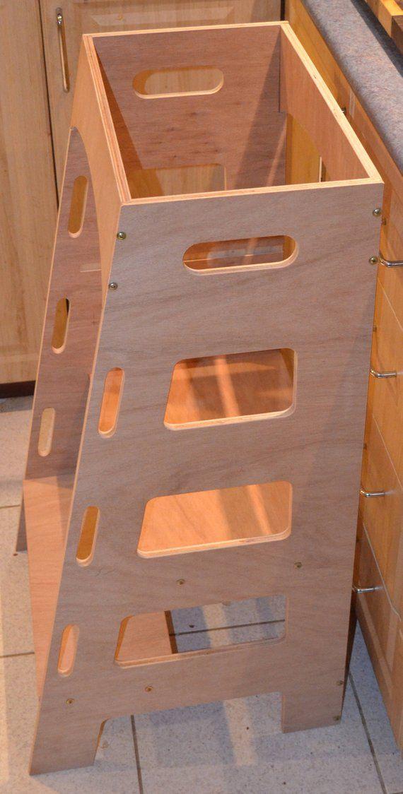 kitchen helper tower montessori kitchen stool step stool learning rh pinterest com