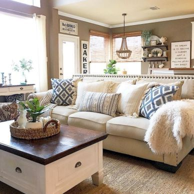 75 beautiful farmhouse and rustic living room decoration ideas rh pinterest com