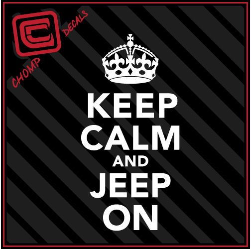 Keep calm and jeep on dirt mud ride kcco chive car truck vinyl decals stickers