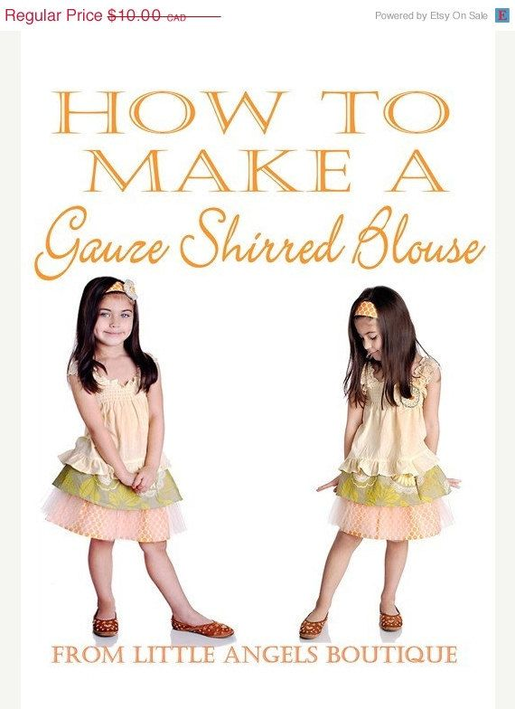 DIY How to Make a Gauze Shirred Blouse by littleangelsboutique, $5.00
