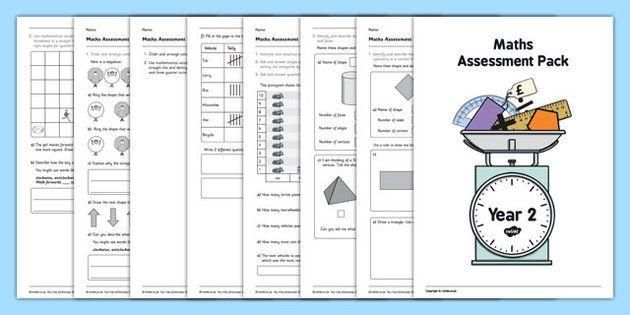 Year 2 Maths Assessment Pack Term 3 - Maths, Assessment, Year 2, term 3