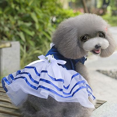 Adorable Cute High Quality Girl Pet Dress 3 Colors S-XL