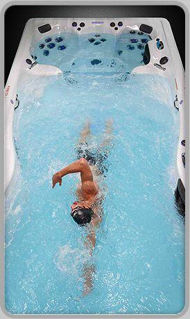 Ok, I need one of these swim spas!  Dear Santa, I've been good...