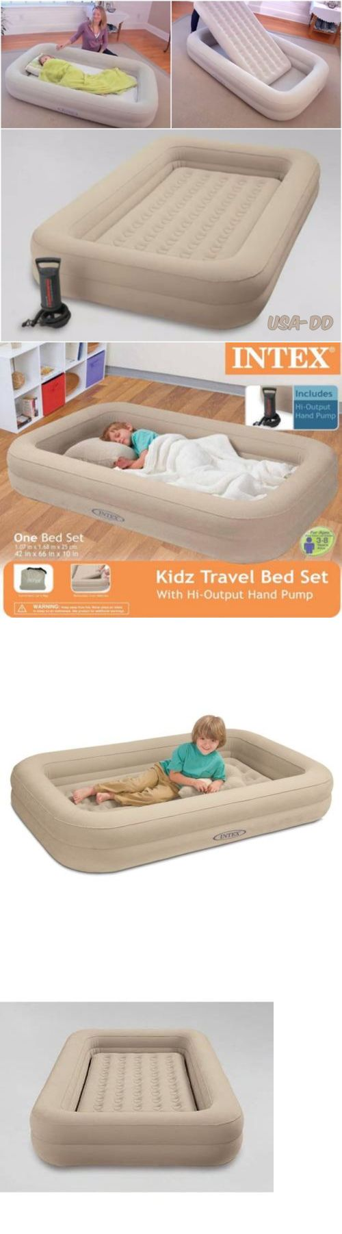 Baby bed camping - Mattresses And Pads 36114 Intex Portable Toddler Travel Bed Set Kids Child Inflatable Air Bed