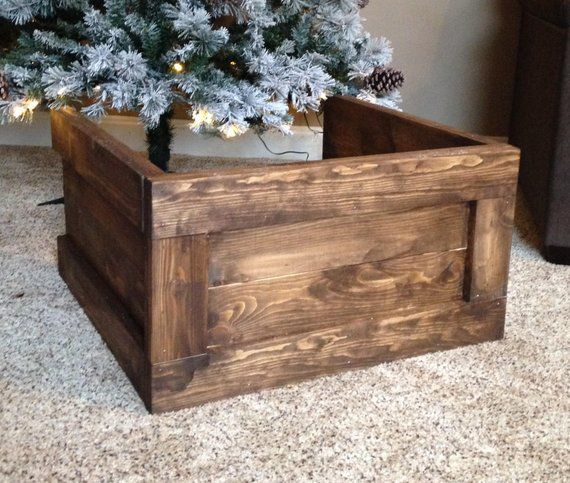 Folding Wood Christmas Tree Box Stand Wood Tree Skirt Etsy In 2020 Christmas Tree Stand Cover Christmas Tree Box Stand Christmas Tree Box