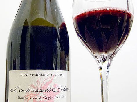 Lambrusco from Emilia-Romagna, Italy: sparkling red deliciousness!