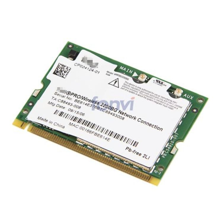Brand New Notebook Wlan For intel 2200 BG 802.11b/g 54Mbps Wireless WIFI Mini PCI Card for Asus DELL Acer Fujitsu Toshiba Asus