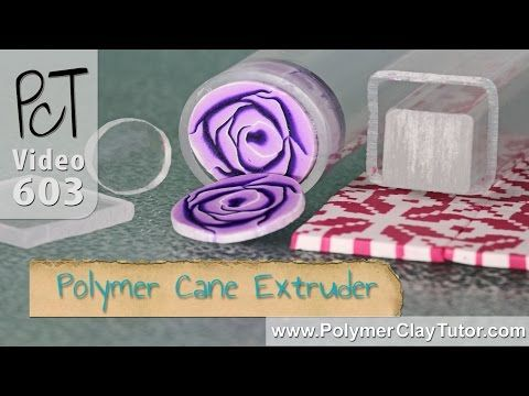 Polymer Cane Extruder Tool For Slicing Polymer Clay Canes - YouTube