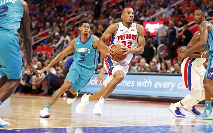 Download wallpapers Avery Bradley, 4k, basketball players, NBA, Detroit Pistons, basketball