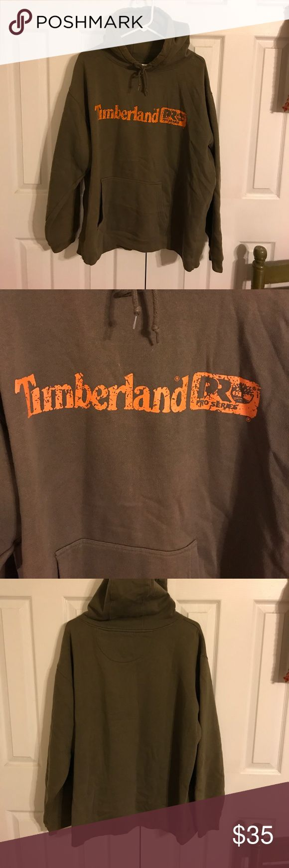Timberland hoodie size XL Men's Timberland extra large hoodie tannish brown with timberland an orange font ProSeries. This is mine and only worn a few times in good condition. Timberland Jackets & Coats Lightweight & Shirt Jackets