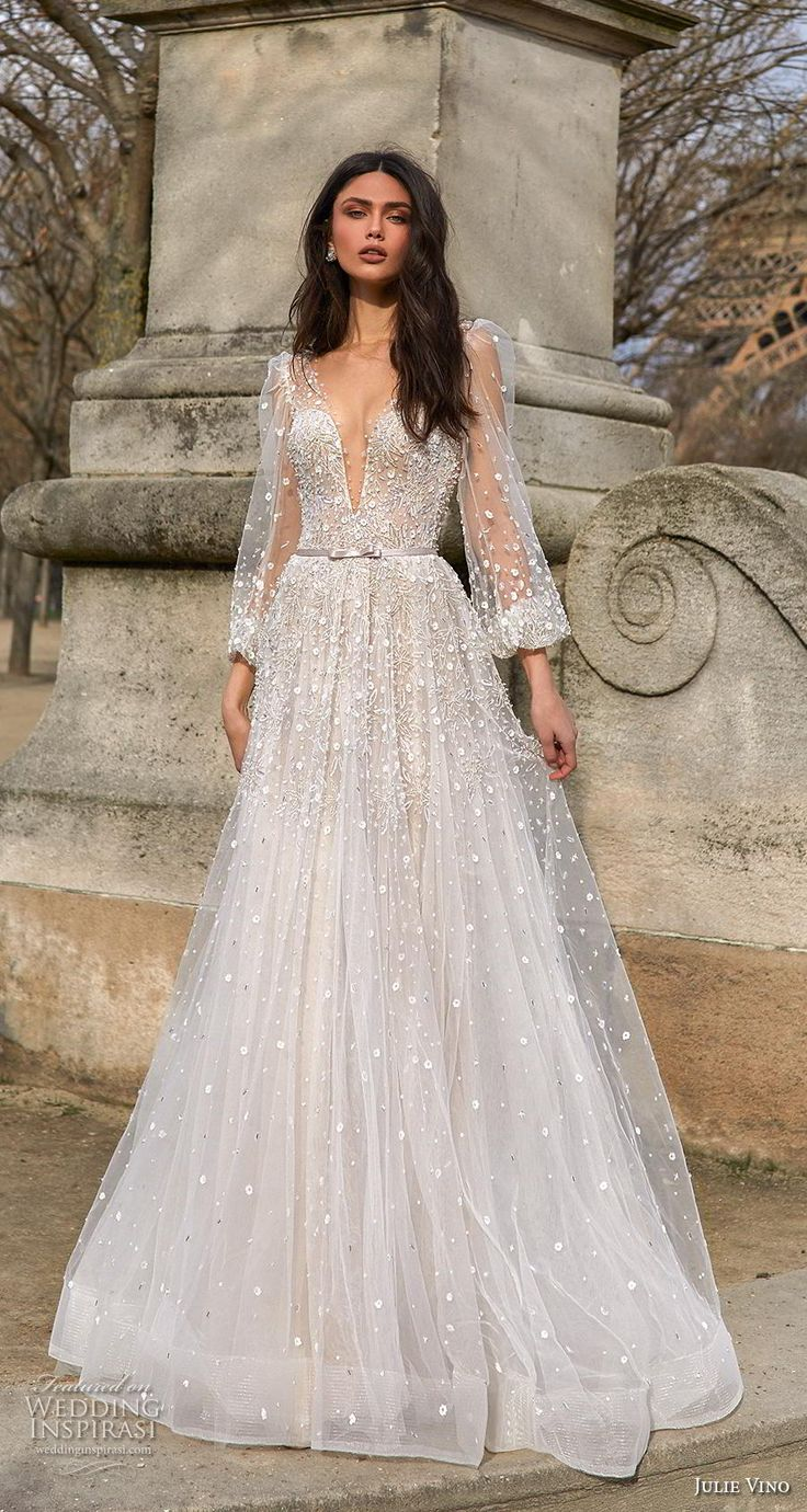 "Julie Vino 2019 Wedding Dresses — ""Paris"" Bridal Collection"