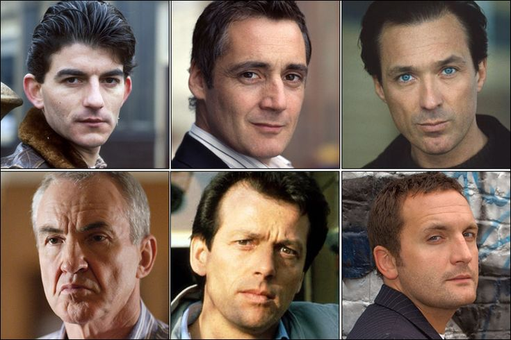(clockwise from left to right) John Altman as Nick Cotton, Michael Higgs as Andy Hunter, Martin Kemp as Steve Owen, Larry Lamb as Archie Mitchell, Leslie Grantham as Dirty Den and  Joel Beckett as Jake Moon    Bad boys of Eastenders