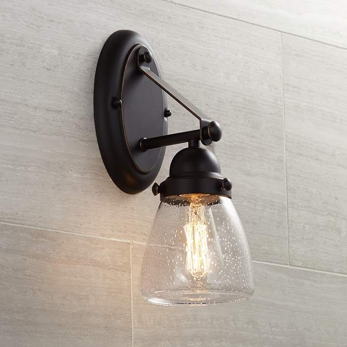 Hartfield 13 1 2 High Oil Rubbed Bronze Wall Sconce Bronze Wall