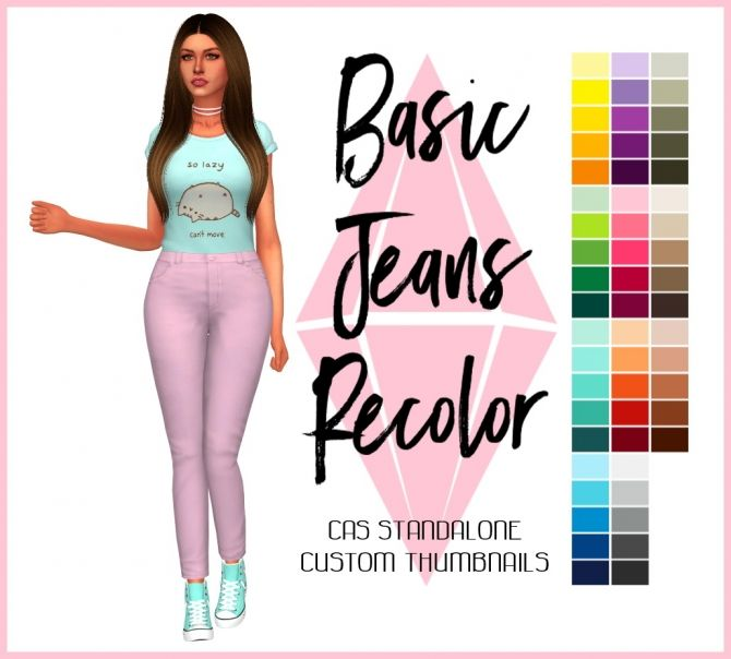 Basic Jeans Recolor by Sympxls at SimsWorkshop • Sims 4 Updates