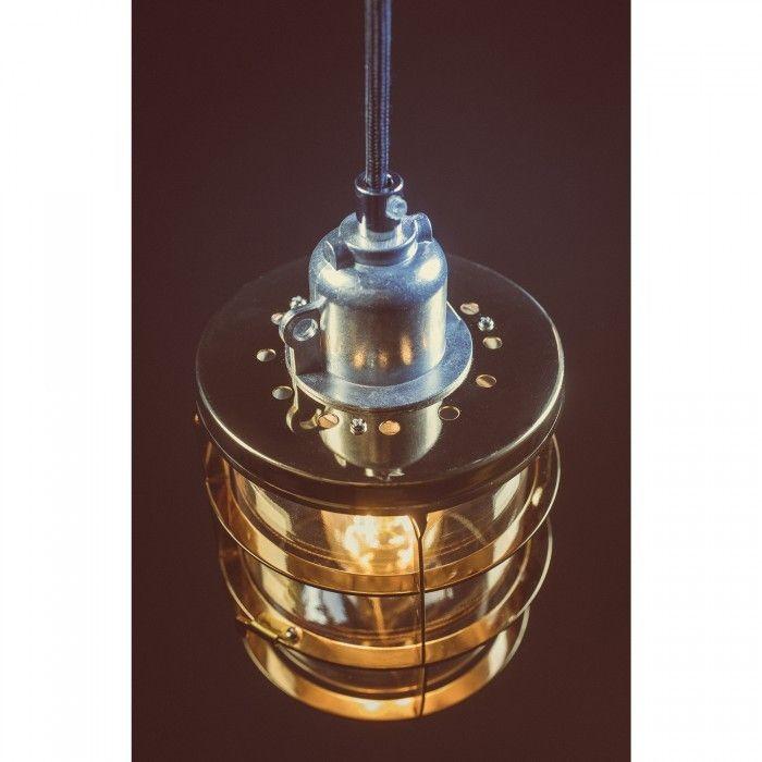 Matino - hangverlichting met nautisch uiterlijk in een gouden afwerking - Lichtkoning.be