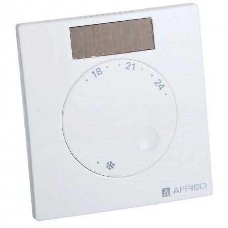 AFRISO Smart Home Raumfühler mit Feuchtemesser FTF 78119 - Permanent werden die Soll- und Ist-Temperatur von Räumen mit Fußbodenheizung verglichen.