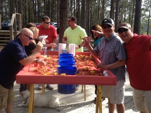 Cajun Crawfish Boil Table...need to build one of these