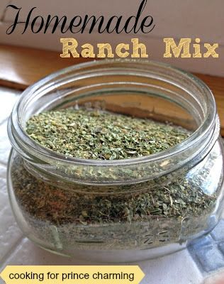 Cooking for Prince Charming: Homemade Ranch Mix