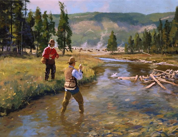 Yellowstone Trout Fly Fishing Painting By Brett James Smith Fly Fishing Art Fish Painting Fly Fishing
