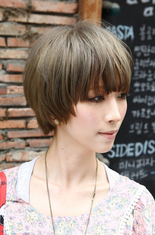 medium hairstyles with blunt bangs 2014Beautiful Bowl Cut with Retro Fringe Short Japanese Hairstyle fSwSmxFf