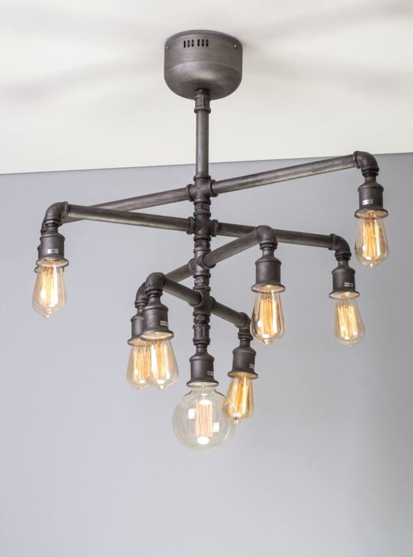 interesting industrial lighting ideas in 2019 pipe projects rh pinterest com