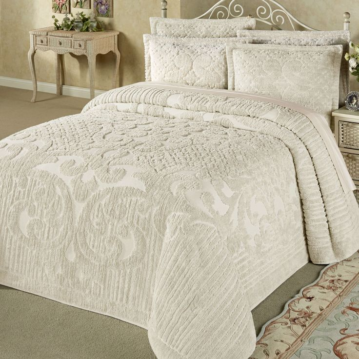 Ashton Cotton Chenille Bedspread Bedding Chenille