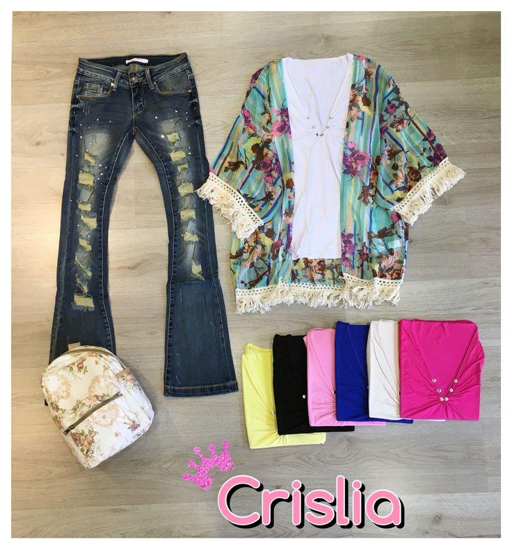 Μπλούζα αμάνικη ελαστική με τρουκς one size 5,99€ Κιμονό εμπριμέ one size στα 14,99€ Τζίν καμπάνα ελαστικό με σκισίματα και στρας στα 19,99€ Σακίδιο πλάτης εμπριμέ στα 19,99€  #crislia #newcollection #shoponline #casual #total #outfit #pale #colors #denim   Κάνε την παραγγελία σου: •τηλεφωνικα στο 210-5223012 •με μήνυμα inbox •στο eshop μας www.crislia.com Καθημερινές 10:00-18:00!  Μεταφορικά με αντικαταβολή 4,90€ Μεταφορικά με κατάθεση 3,90€ Δωρεάν αποστολές ανω των 70€ www.crislia.com