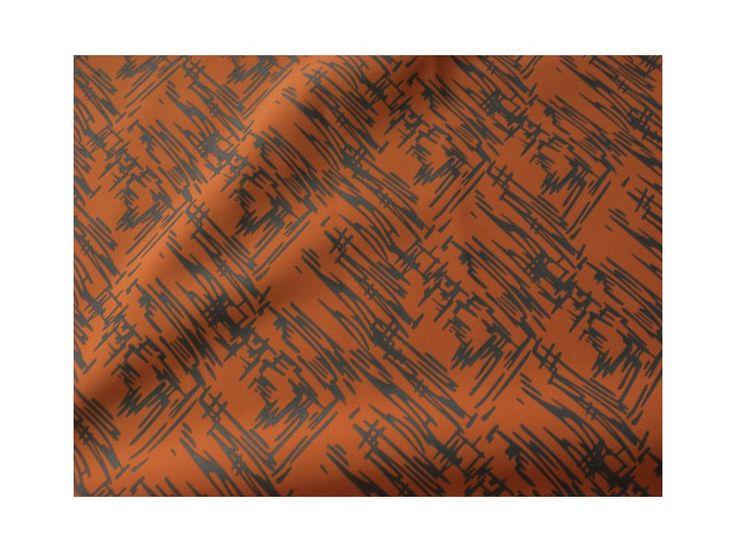 Potištěný softshell oranžový