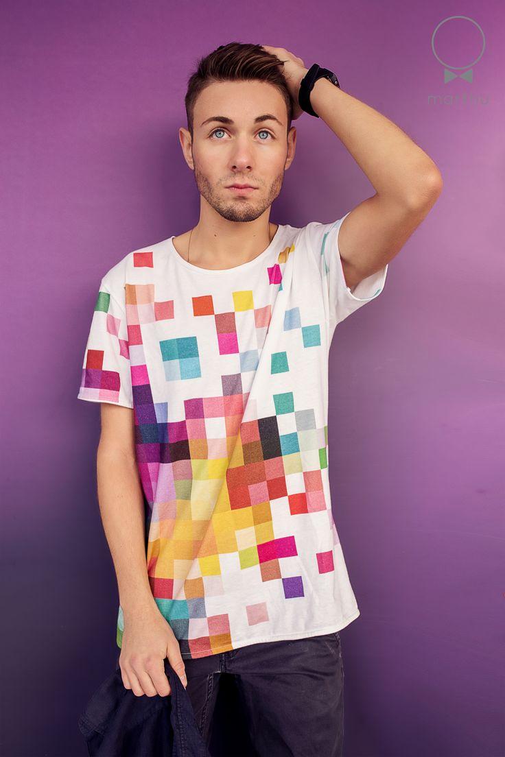 PIXEL PRINT tshirt, high quality 100% cotton.