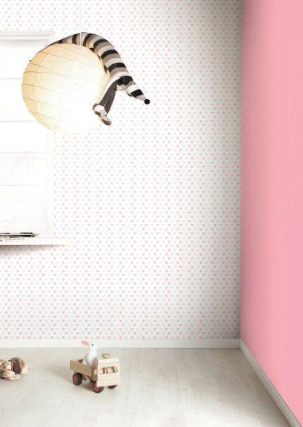 Met dit snoep hartjes behang creëer je de zoetste kamer in heel je huis