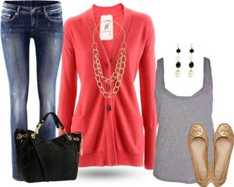 clothes. blue, gray, hot pink