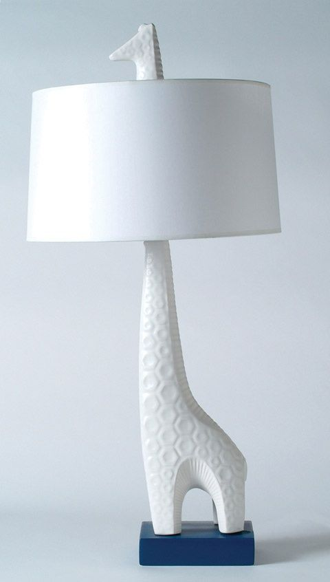 Giraffe nursery lamp, ceramic   |  Design:  Jonathan Adler